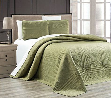 Green Coverlets by Need 3 Green Oversize Stella Grande Bedspread