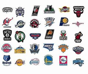 NBA * National Basketball Association Team Logo Stickers ...