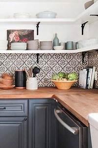 Küche Fliesen Ideen : fliesen deko ideen moderne einbauk che schwarz wei marokkanischen fliesen orientalische ~ Sanjose-hotels-ca.com Haus und Dekorationen