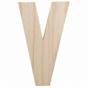 775quot chunky wooden letter v 9190 692v craftoutletcom With wooden letter v