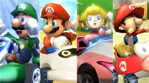 Mario Kart Wii All Characters Winning Animations Youtube