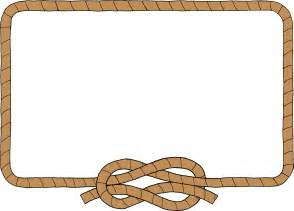 Western Rope Border Clip Art