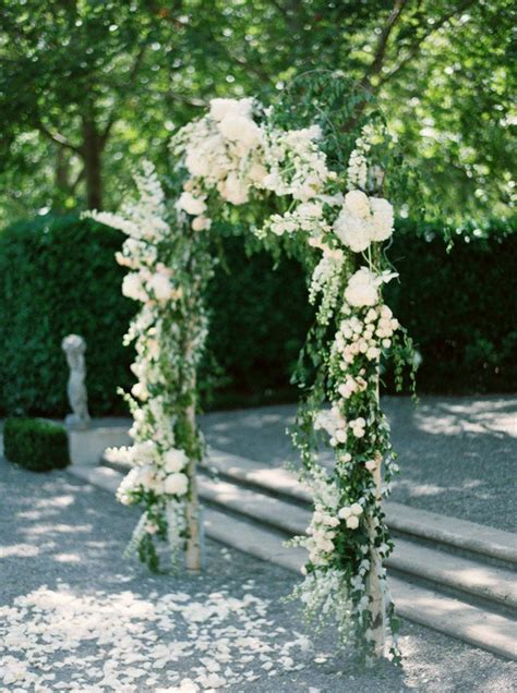 prettiest floral wedding arch decoration ideas