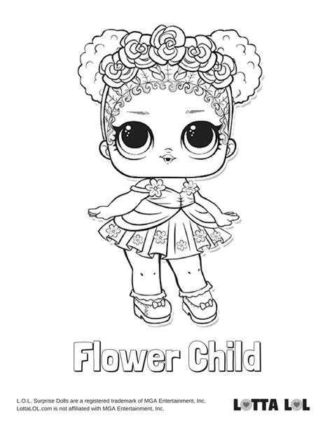 Coloring Lol Surp by Colouring Pages Lol Dolls Popular Flower Child Series L O