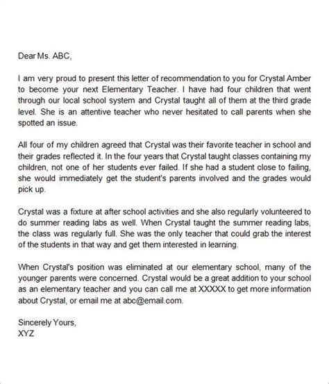 letter  teacher letter templates  templates