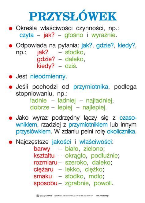 Rzeczownik czasownik przymiotnik klasa 3