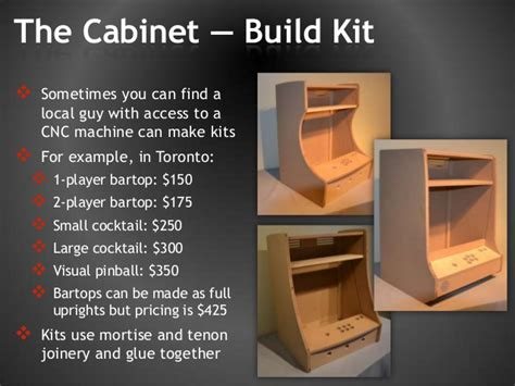 cocktail arcade cabinet plans woodworking lumber
