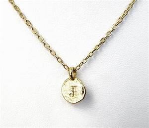 j initial necklace j letter necklaces gold by With letter j initial necklace
