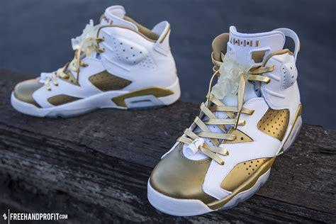 Custom Jordan 6s Gold