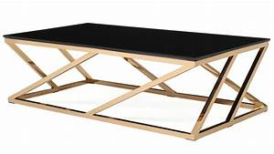 Table Basse Rose Gold : modern rose gold and black glass geo coffee table zuri furniture ~ Teatrodelosmanantiales.com Idées de Décoration