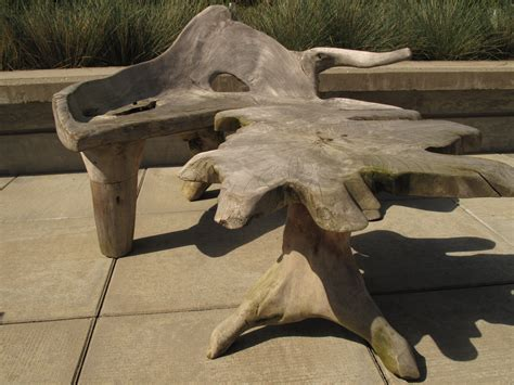 for sale custom driftwood outdoor chair table