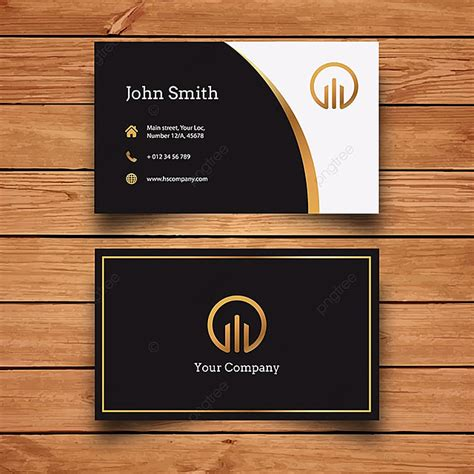 black  gold business card template