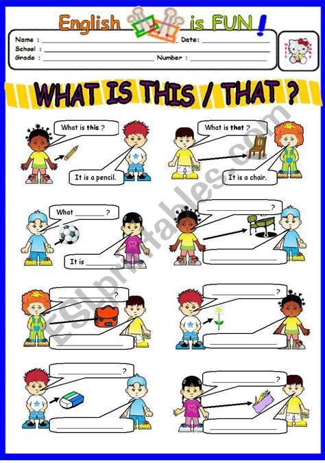 what is this that esl worksheet by bburcu