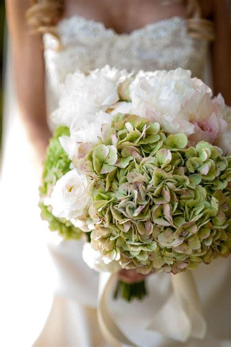 hydrangea and peony bridal bouquet