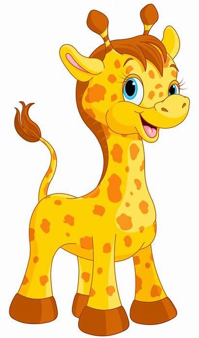 Giraffe Cartoon Clipart Water Drinking Transparent Webstockreview