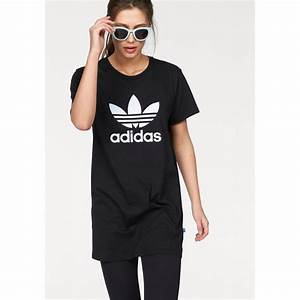 robe t shirt en jersey manches courtes grand imprime With robe t shirt adidas