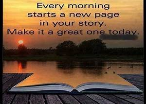 Every Monday Starts A New Page In Your Story. Make It A ...