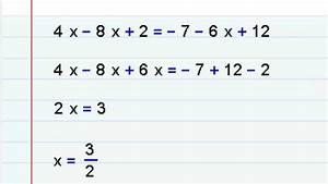 Algebra Ecuaciones   Ejercicios Y Explicacion