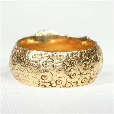 antique victorian engraved wide  gold buckle ring men