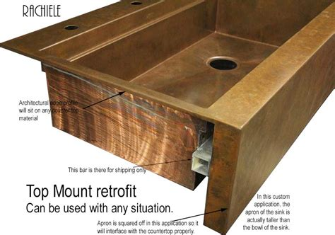 Kohler Retrofit Apron Sink by Retrofit Copper Apron Farmhouse Sinks Top Mount Or