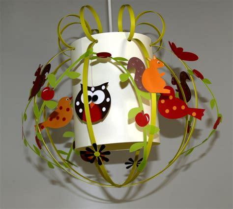 suspension luminaire chambre bébé luminaire enfant dcoration animaux de la fort fabrique