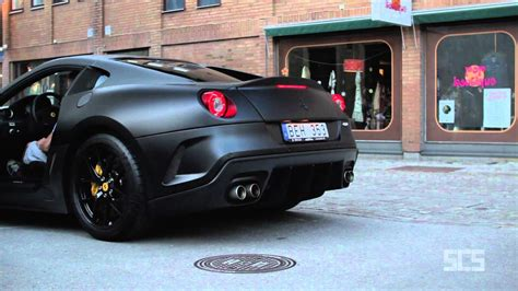scs matte black ferrari  gto  gothenburg youtube