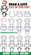 How to Draw The Cat in the Hat : Cute Kawaii / Chibi ...
