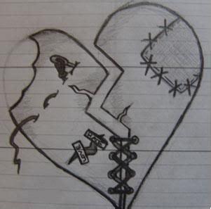 broken love heart drawing clip art library