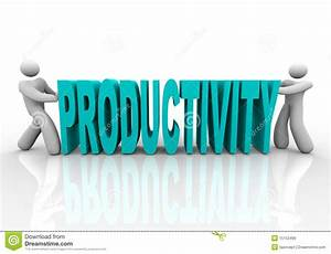 Productivity - People Push Word Together Royalty Free ...