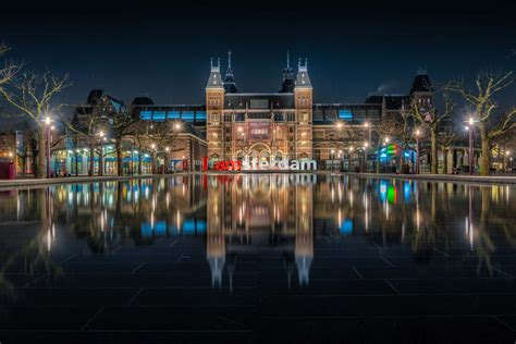 Museum Amsterdam Pool rijksmuseum reflecting pool netherlands