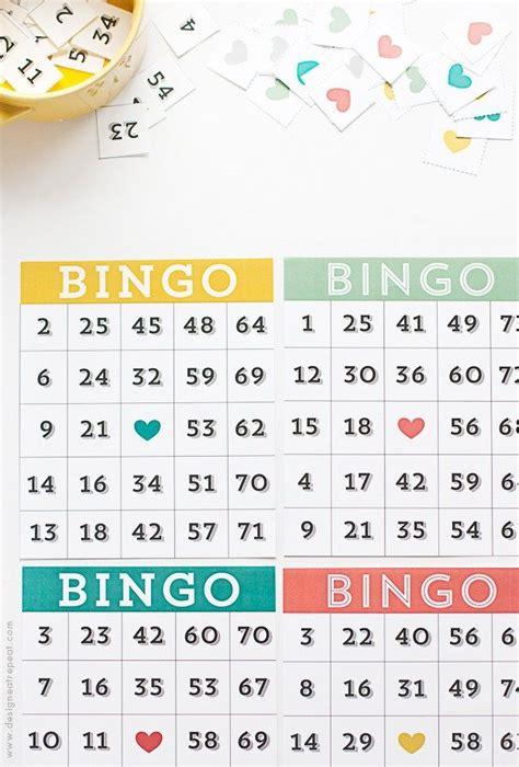 printable cute bingo cards   set