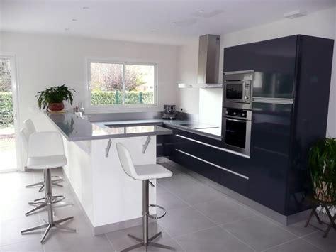 cuisine gris laqué cuisine blanc laque et gris solutions pour la décoration