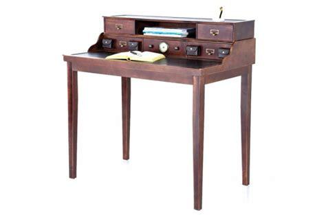 secr 233 taire en bois style colonial colomb bureau pas cher