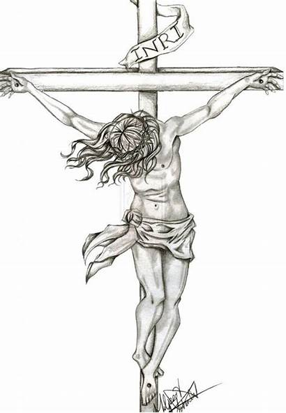 Jesus Drawing Cross Pencil Drawings Christ Bible