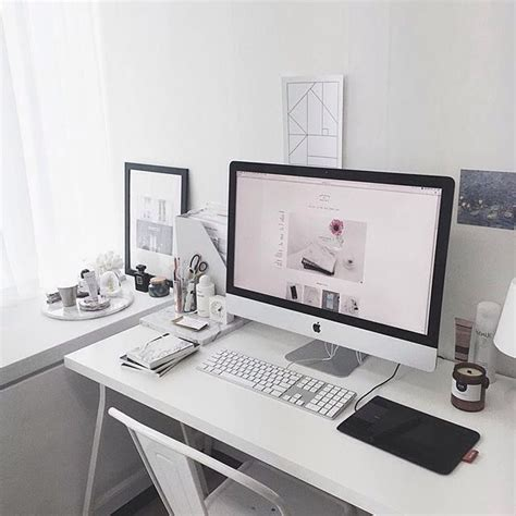 bureau imac 1000 ideas about desk inspiration on room