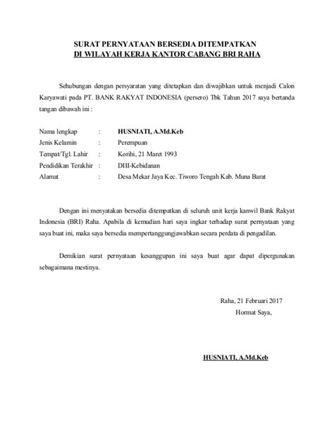 Surat Pernyataan Bersedia Ditempatkan Di Kantor Kejaksaan Seluruh Indonesia by Surat Pernyataan Bersedia Ditempatkan Di Seluruh Unit