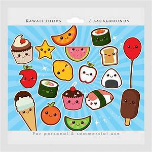 Cute food clipart kawaii clip art Japanese cute sushi
