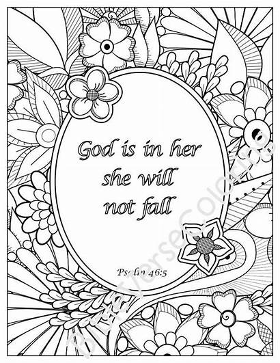 Coloring Bible Pages Inspirational Quotes Adult Verse