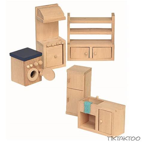 Einrichtung Kleiner Kuechekleine Kueche Aus Holz 4 by 5 Teiliges K 252 Chen Set F 252 R Die Puppenstube Puppenhaus