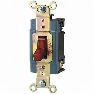 Eaton 15 Amp 120  277-volt Industrial Grade Toggle Switch With Pilot Light  Red-ah1201pl