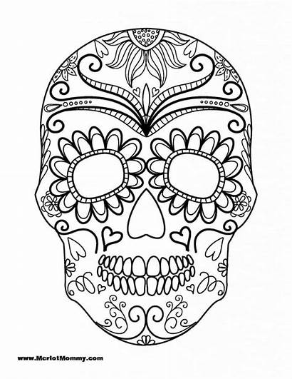 Halloween Coloring Pages Adults Sugar Skull Teens