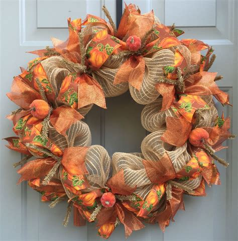 fall pumpkin wreath fall wreath harvest wreath autumn