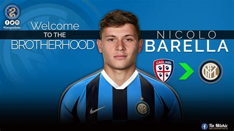 £58.50m * feb 7, 1997 in cagliari, italy BREAKING - Nicolò Barella To Sign For Inter Tonight