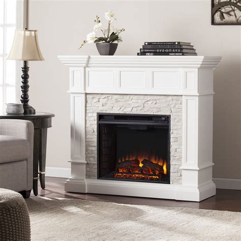 electric fireplace white 45 50 quot merrimack corner convertible electric fireplace