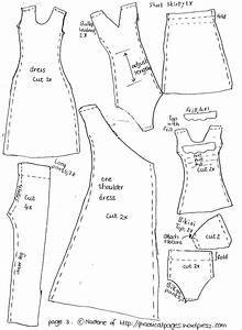 free barbie doll clothes patterns new calendar template site With dress a doll template