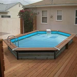 Piscine Semi Enterré Bois : piscine bois alu waterclip 460x270x129 optimum achat ~ Premium-room.com Idées de Décoration