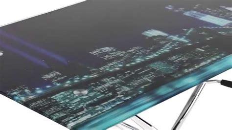 plateau verre trempé bureau table basse relevable york up and but