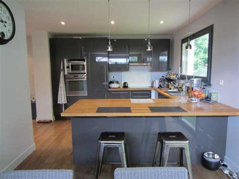cuisine gris et charmant cuisine grise et bois et cuisine design sans