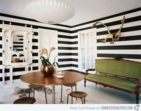 black and white striped wall striped wall accents in 15 dining room designs home design lover