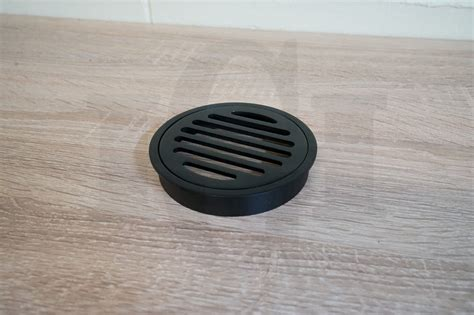 matte black floor waste premium electroplated